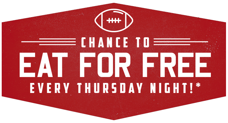 Chance to Eat for free Every Thursday Night!*