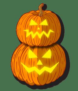 Halloween Stacked Pumpkins